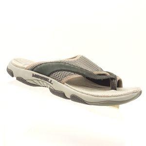 MERRELL Belluna Breeze Flip Flop Black Gray Sandal